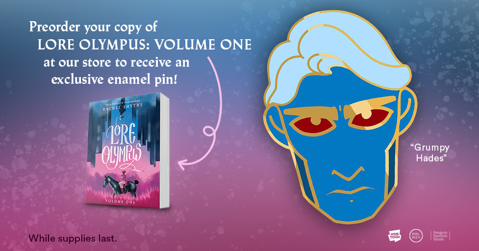 Pre-order a copy of Lore Olympus: Volume 1 and…